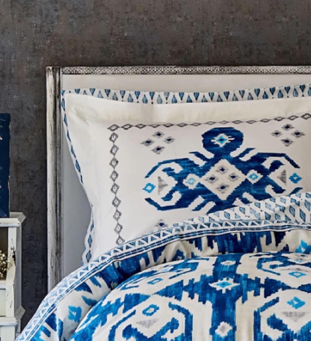 Karaca Home Neos Blue Cotton Double Duvet Cover Set enlarge