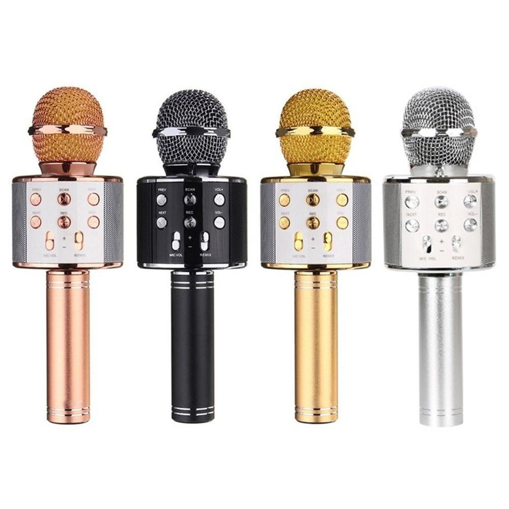 4 farben Handheld Drahtlose Bluetooth Mikrofon KTV Karaoke Mikrofon mit Lautsprecher für IOS Android Telefon Computer PC Mic 2020