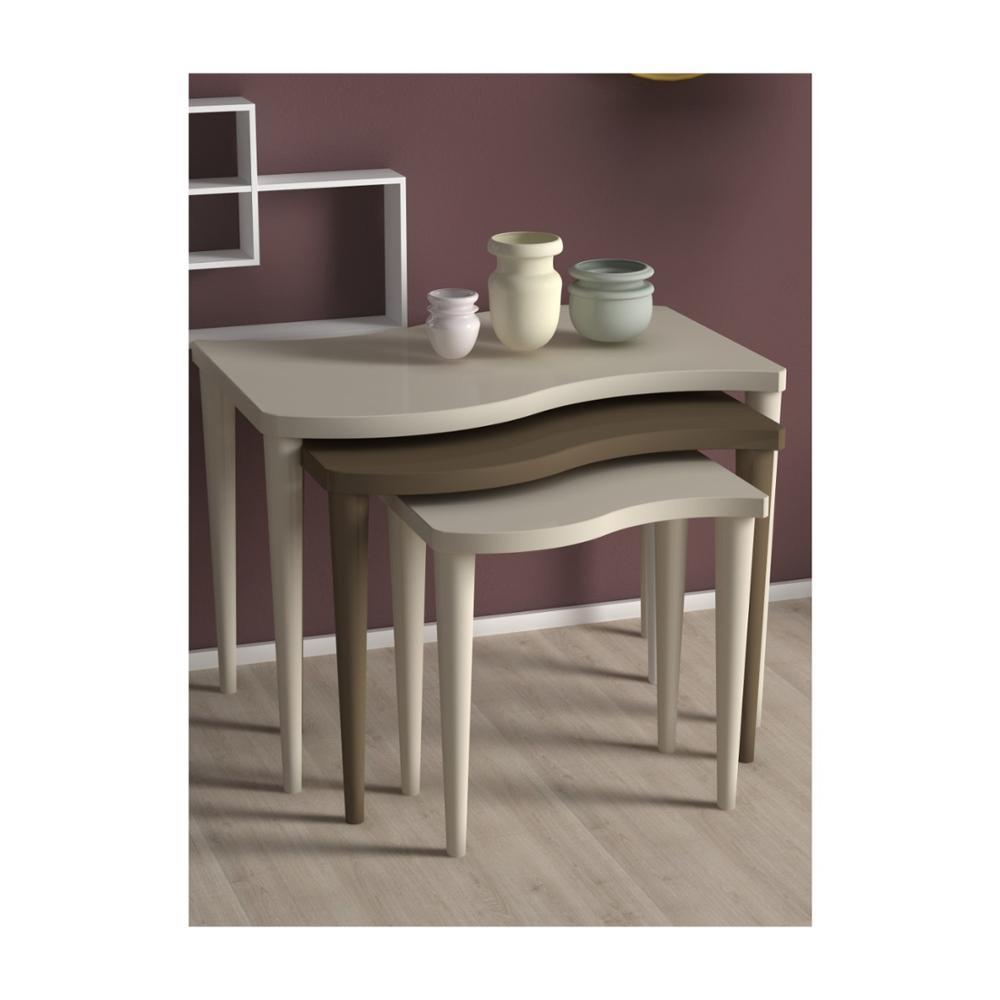 Сделано в Турции 3 шт. журнальные столики кремово-коричневые Мини Современные практичные чайные столы для гостиной Zigon деревянные аксессуар...