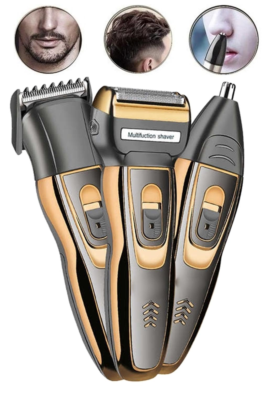 yopigo Bal-gold Yeni Model 3in1 Erkek Bakım Seti Saç Sakal Kesme Traş Makinesi Burun Kılı Alma