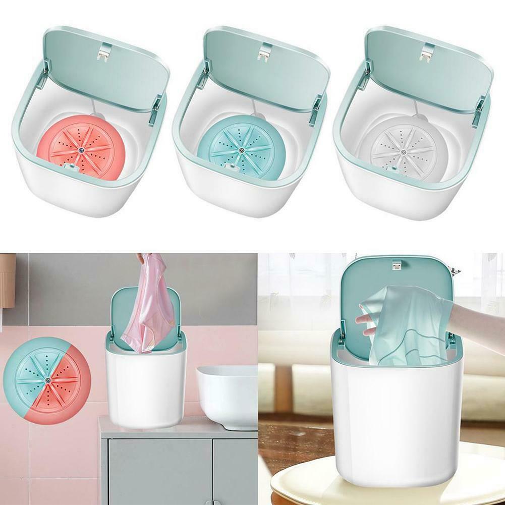 Дорожная мини-стиральная машина, портативная ультразвуковая турбо стиральная машина с питанием от USB, рабочая одежда, сумка для стирки белья Washer 3.8L