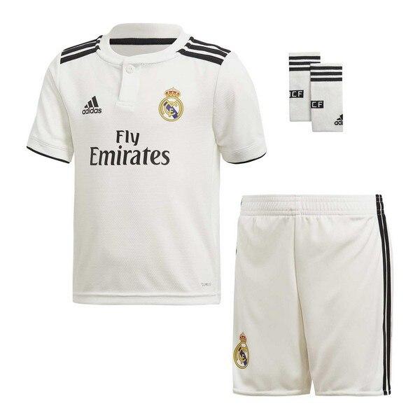 Conjunto de equipos de fútbol para niños Adidas Real Madrid blanco 18/19 (1ª) (3 uds)
