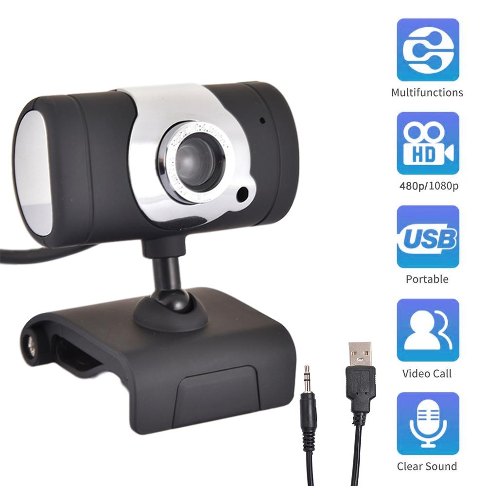HD веб-камера 1080p/480p для ноутбука, USB камера, подключи, играй, видео запись, веб-камера с микрофоном для ПК, компьютера, ноутбука, веб-камера