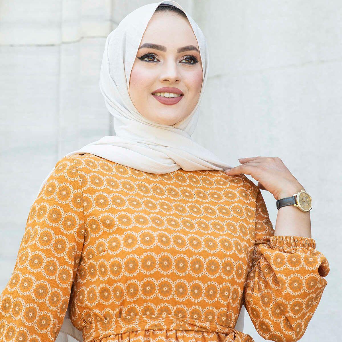 Платье с рисунком Frilly, турецкий мусульманский модный хиджаб, мусульманская одежда Дубай, эксклюзивные стили Дубая, амбул 2021