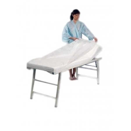 Disposable Tissue/Poly Flat Stretcher Sheets Underpad Cover Fitted Massage Table Beauty Care Accessories 80x220cm enlarge