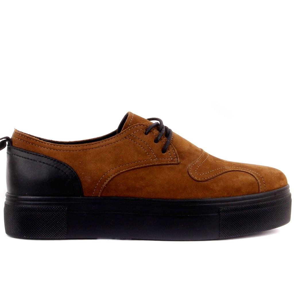 Femininos de Couro Sail Lakers-cinnamon Nubuck Sapatos Casuais Preto
