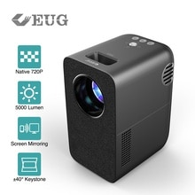 2021 New Vertical Projector 720P Resolution Support Wireless Airplay LED Video Beamer Home Theater P