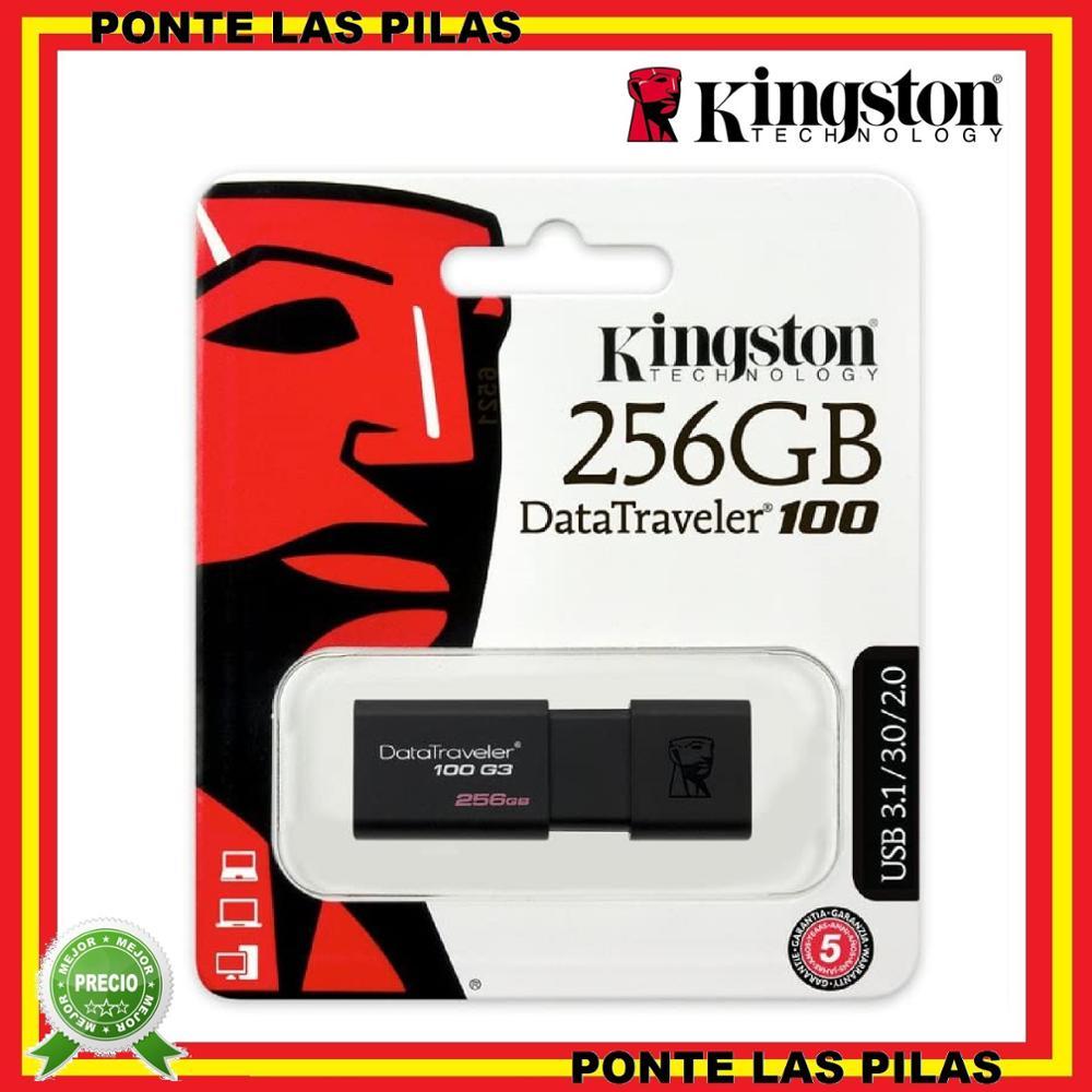 Pendrive Kingston 256GB USB 3.0 DataTraveler 100 G3 - Original Memoria USB Flash Drive