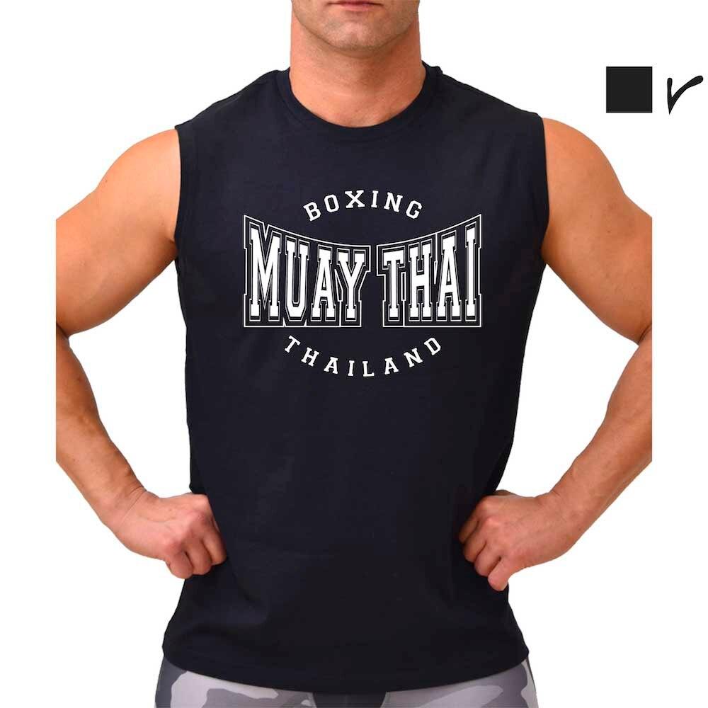 Camiseta sin mangas MUAY THAI THAILAND, Boxing, MMA, UFC, artes marciales, deporte de contacto, camiseta para hombres, gimnasio.