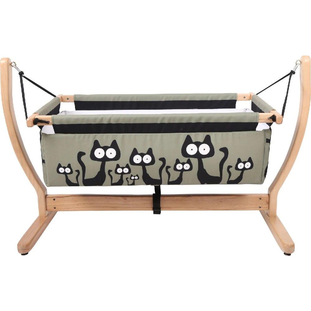 Wooden Baby Crib Hammock Baby Cradles Sleeping Nest Bed Newborn Nursery Furniture Rocking Chair Swing Travel Bed Direct