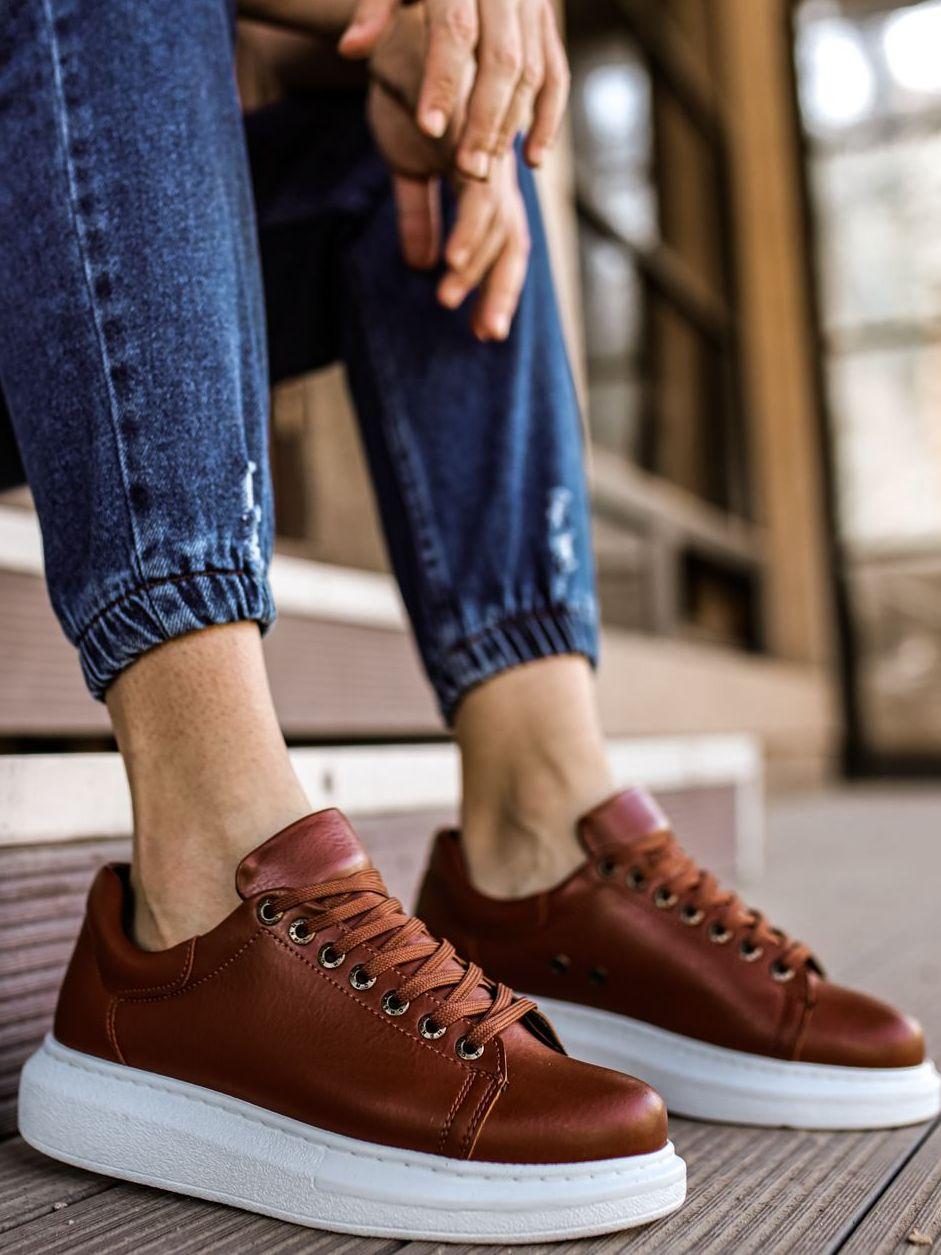 2021 men sneakers brown tennis shoes running training casual non-slip vulcanized men sneakers summer shoes men original brown