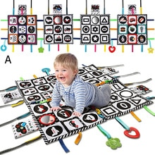 teytoy Tummy Time Floor Mirror, Double High Contrast Pat Activity Mat Black and White Baby Crinkle T