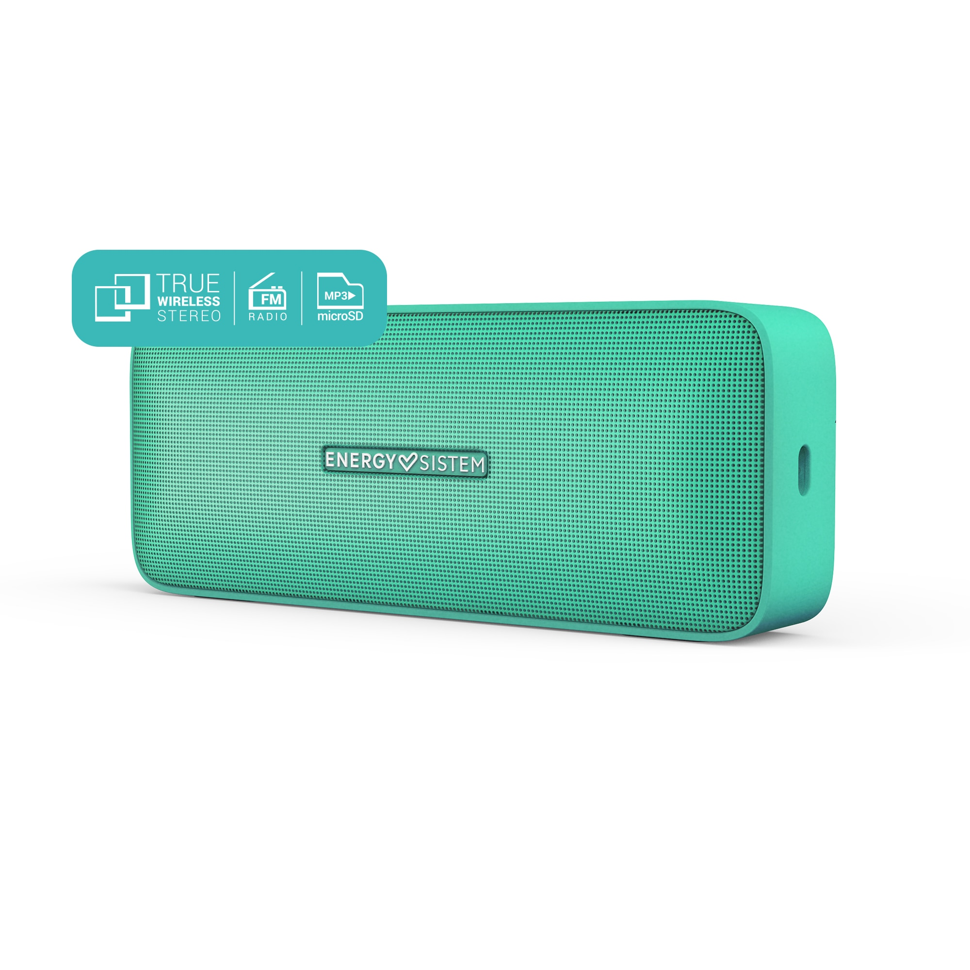 Energy Sistem Music Box 2+ Mint ( Altavoz portátil reproductor MP3  FM , Bluetooth 5.0, TWS, 6 W, Manos libres) Verde