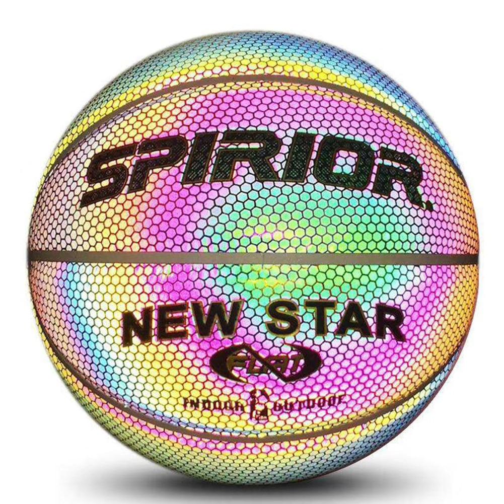 LuminousBasketball Fluorescent Basketball Moon Luminous Rainbow No. 7 Leather Creative Cool Colorful Basketball