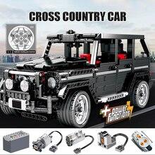 SEMBO 1388 adet Creator şehir kros SUV araba yapı taşları teknik RC/olmayan-RC araba AWD araç tuğla oyuncaklar çocuklar için