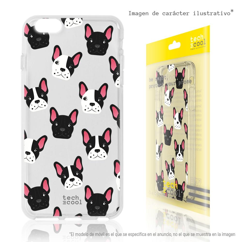 FunnyTech® Funda Silicona para Xiaomi Redmi Note 8 Pro l Mini Bulldogs francés Transparente