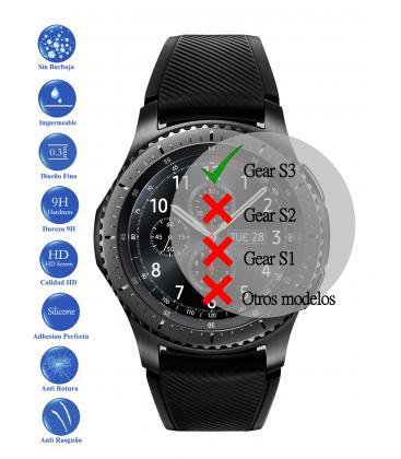 Protector de Pantalla Cristal Templado Vidrio 9H para Samsung Galaxy Gear S3