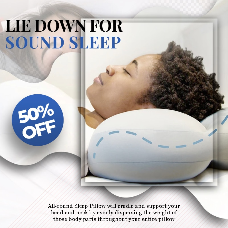 AliExpress - VIP  All-round Sleep Pillow Memory Foam Bedding Neck protection Slow Rebound Shaped Health Cervical Neck Sleep Support Concave