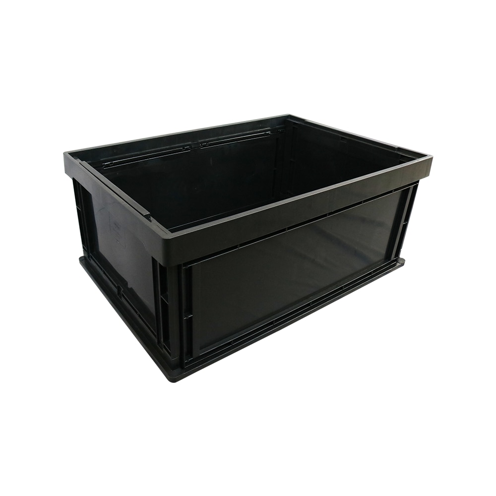 647X443X280mm الاستاتيكيه البلاستيك الأسود ESD ثابت تبديد صندوق الحاويات