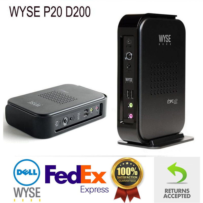 Dell Wyse Thin Client Mini PC Micro Desktop SHIPPED FROM LONDON D200 P20 PCoIP Dual Zero Tera 1100 128MB 64Mb No OS Px0
