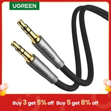 UGREEN HiFi AUX Cable 3.5mm Audio Speaker Cable 3.5 jack For Guitar Silver-plated Braided Wire Auxil