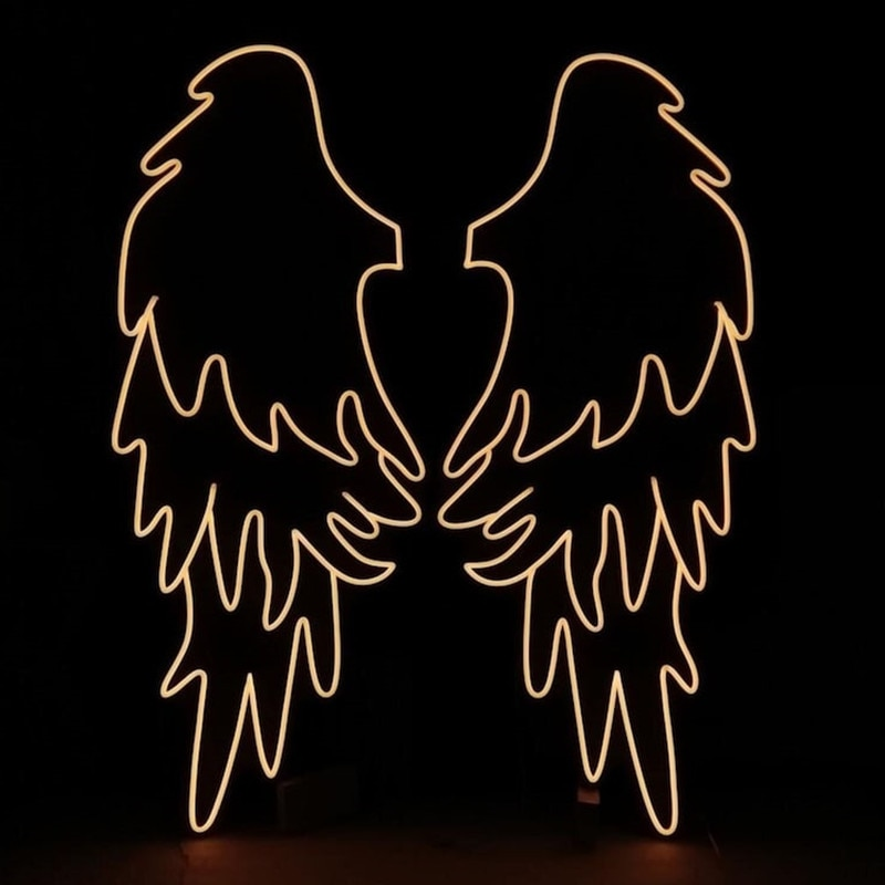 Аngel Wings Neon Sign Custom Neon Sign Fex LED Neon Light Sign Wedding Decor Party Decor Store Bar Decor Photo zone enlarge