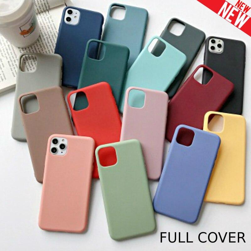 Funda de silicona líquida para i-phone 7, 8, 6, 6s Plus, 4 5S, SE 2, funda blanda Original y fina, Capa Coque para i-phone Xs 11 Pro Max XR