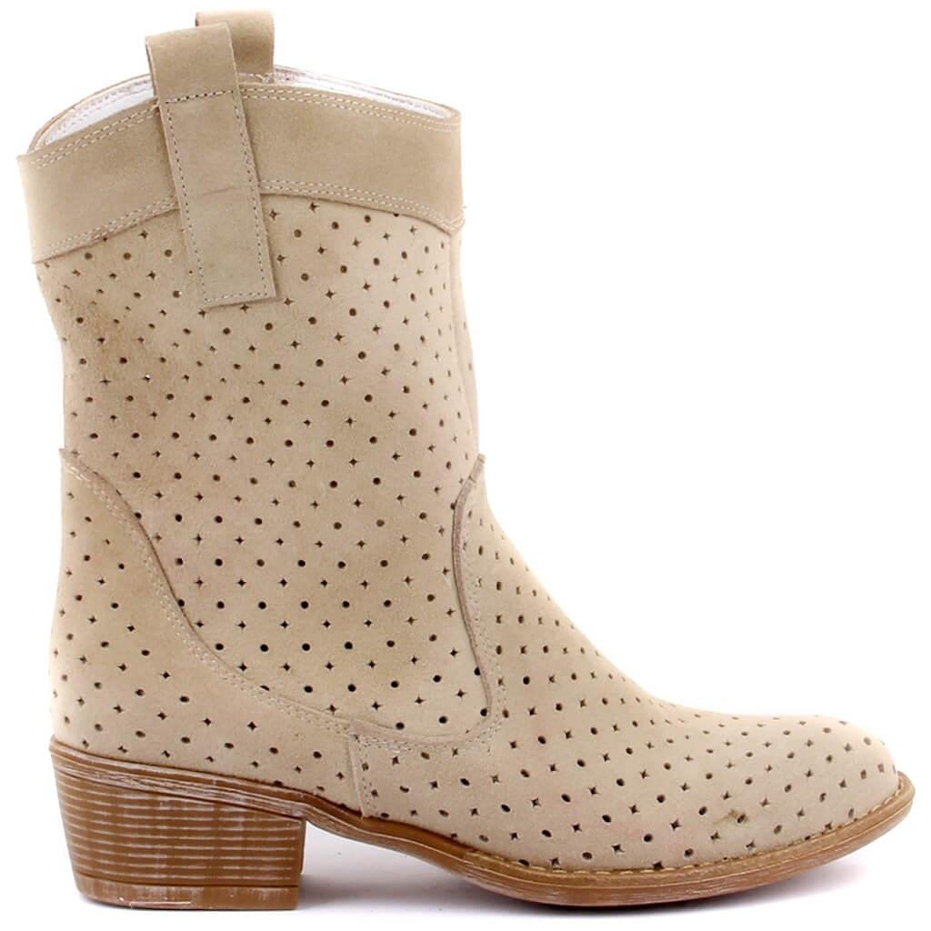 شراع ليكرز-حذاء نسائي صيفي بدون سحاب أبيض مكسور من نوباك