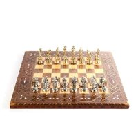 historical troy figures metal chess set handmade pieces natural solid wooden chess board original pearl on board king 6cm
