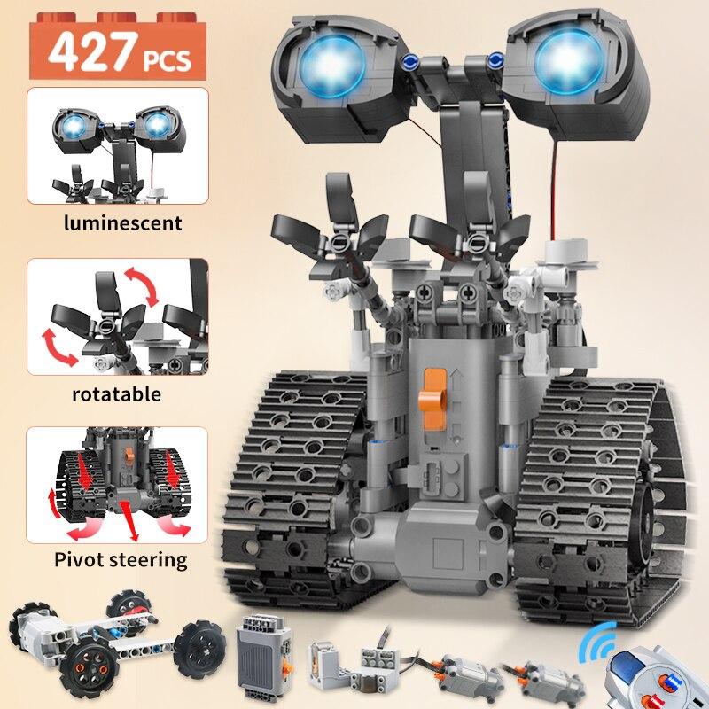 427 قطعة كتل التقنية الإبداعية بناء الكهربائية RC روبوت الطوب التحكم عن بعد ذكي ألعاب تعليمية للأطفال هدية