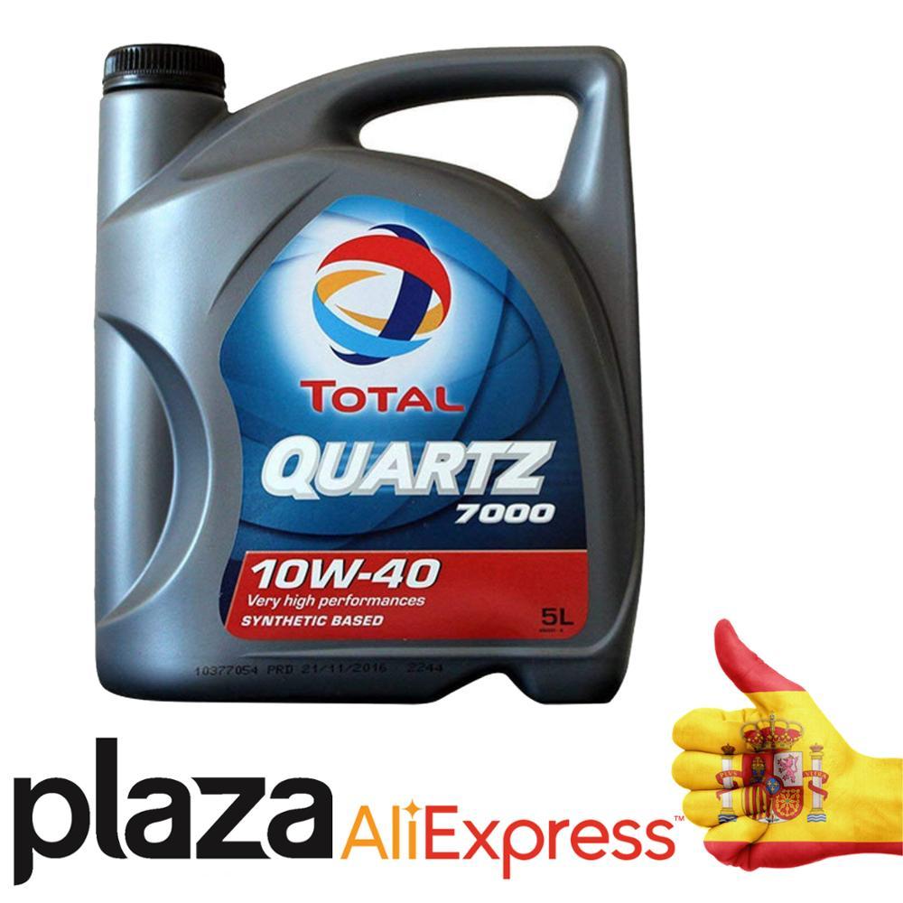 Total Quartz 7000 10W40 5L - Aceite Lubricante para motor - Envío Gratis - Aceite para coche