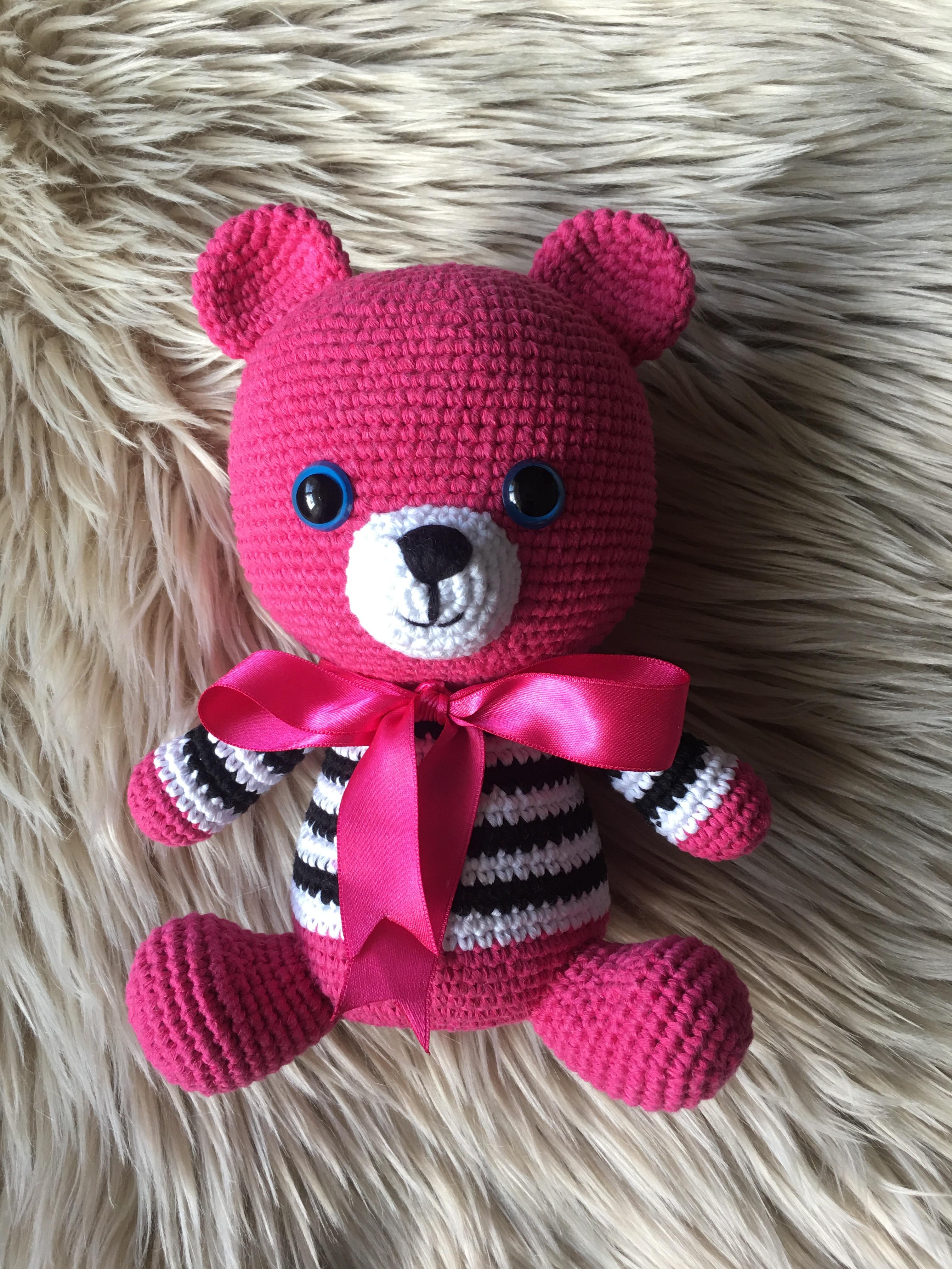 Tedy bear animal toys tedy stuffed dolls amigurumi crochet handmade baby shower gift