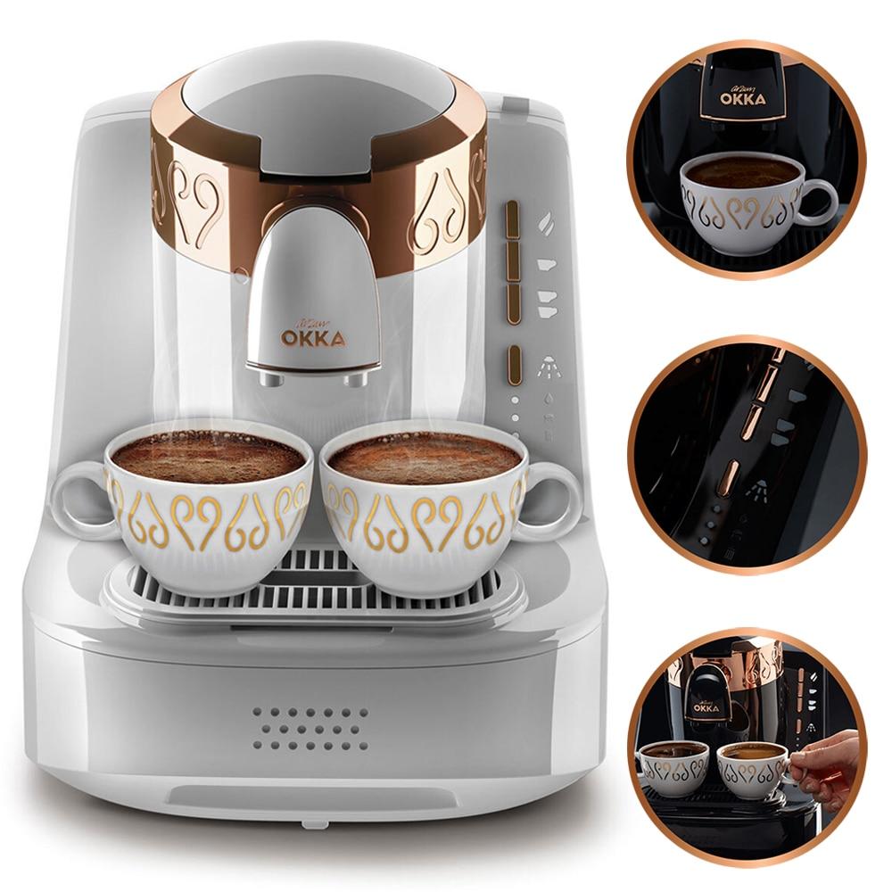 Arzum Okka OK001 Automati máquina de café turco. Cafetera automática para café con cápsula de aspiradora abombada de café inox pod Turk
