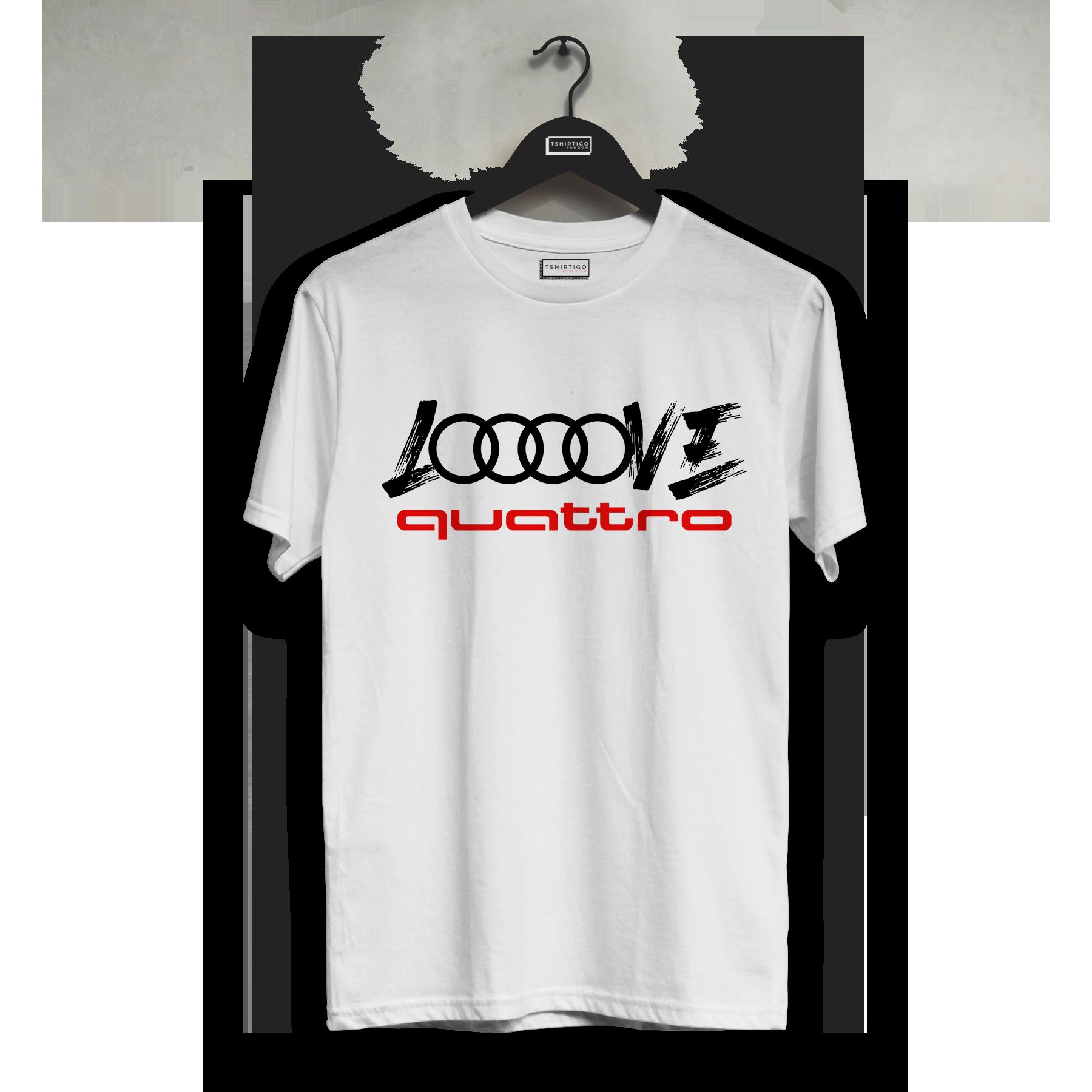 Audi quattro футболка A3 A4 A5 A6 Q3 Q5 Q7 Модифицированная футболка с изображением автомобиля Тюнинг скорость Производительность любовь футболка