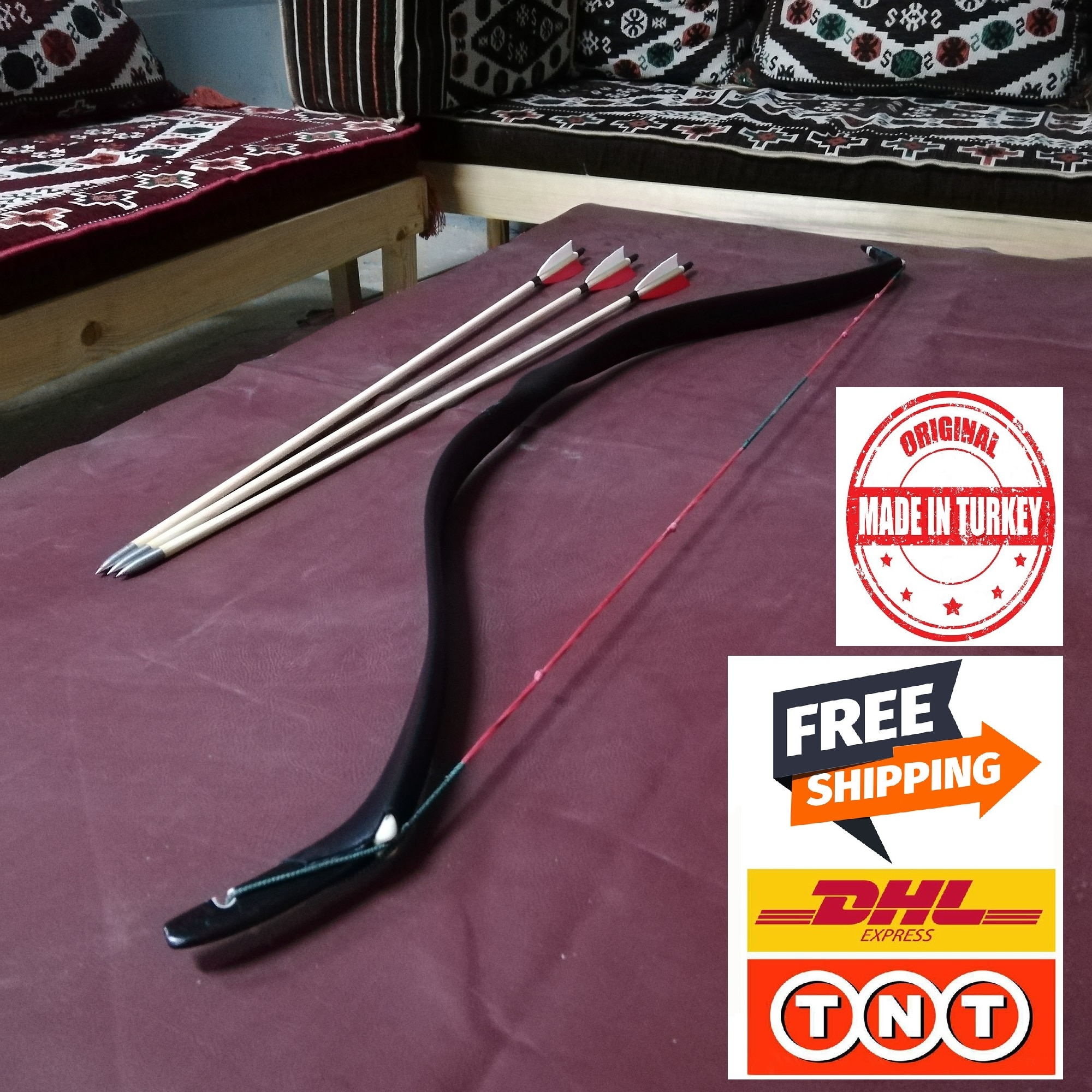 اوكبابا قسط التركية التقليدية PV الألياف الزجاجية الراتنج القوس الهدف النار 30-45 رطل التركية العثمانية شكل-شحن مجاني DHL / TNT