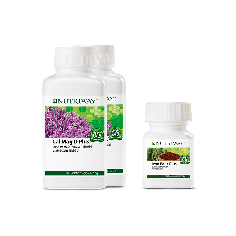 Mama to Be Kit NUTRIWAY™ 1x Iron Folic Plus 120 Tablets, 2x Cal Mag D Plus 2x 180 Tablets