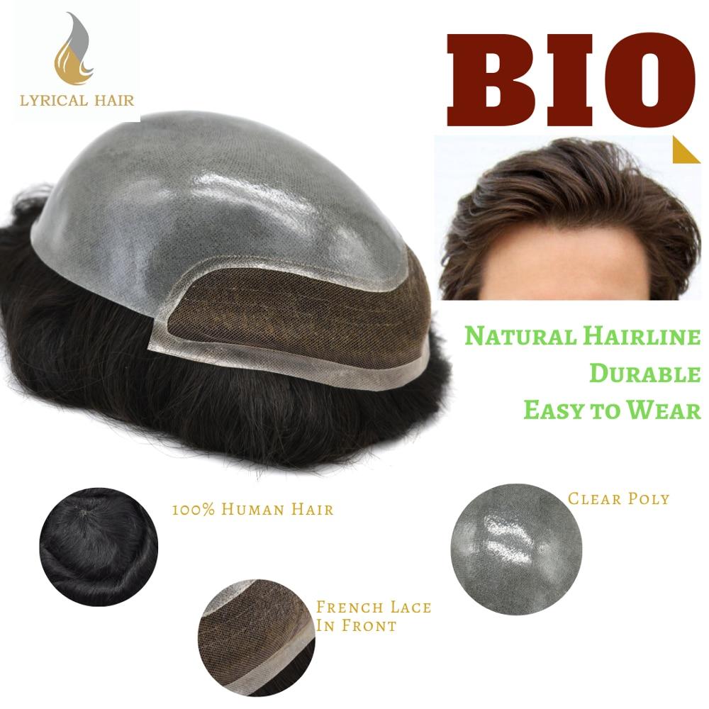 Peluquín para hombres, sistema de reemplazo de cabello Bleach Knot Natural, peluquín fino de piel negra, peluquín de pelo humano
