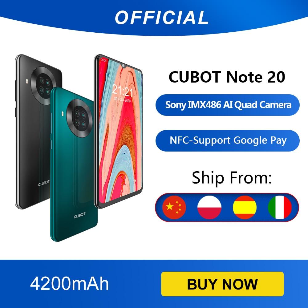 Cubot Note 20 cuádruple cámara trasera Smartphone NFC 3GB + 64GB 6,5...