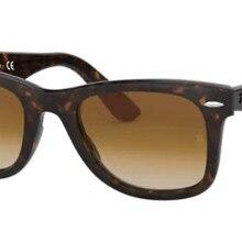 Rayban Wayfarer 2140 902/51 50 Vintage Sunglasses Brown Frame Brown Gradient Lenses Unisex Sunglasse