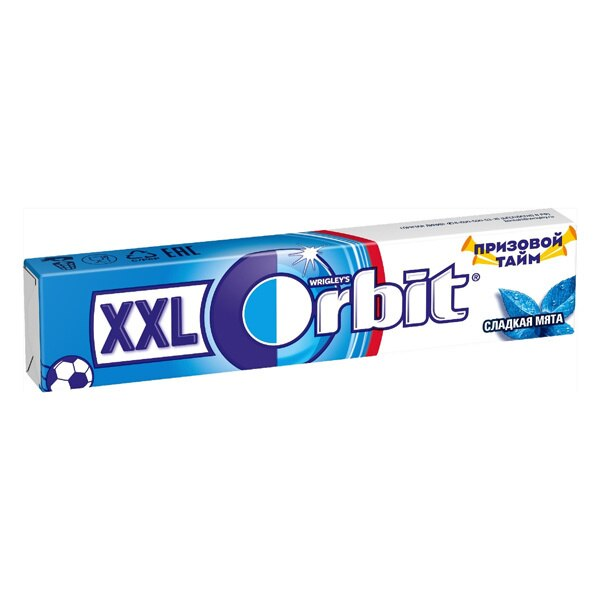 Жевательная резинка Orbit XXL сладкая мята 20 4 г|Жевательная резинка| |