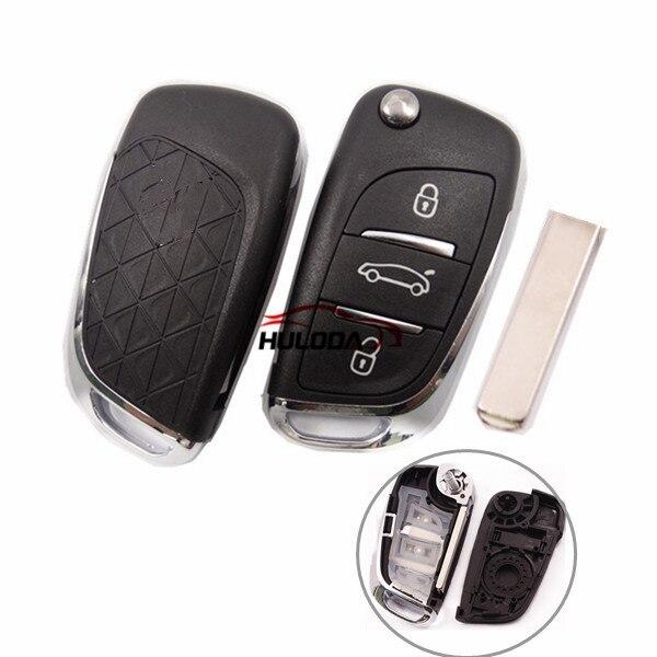 Para Citr DS 3 botón flip remoto clave sin grabar con hoja VA2 307