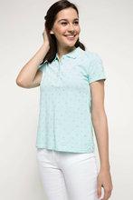 DeFacto 여성 봄 빛 녹색 탑 티 여성 캐주얼 코 튼 폴로 셔츠 여성 짧은 소매 탑 Shirt-I3392AZ18SP