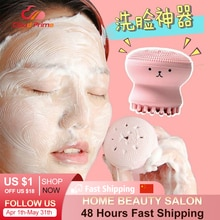 Octopus Shape Silicone Face Cleansing Brush Face Washing Product Pore Cleaner Exfoliator Face Brush