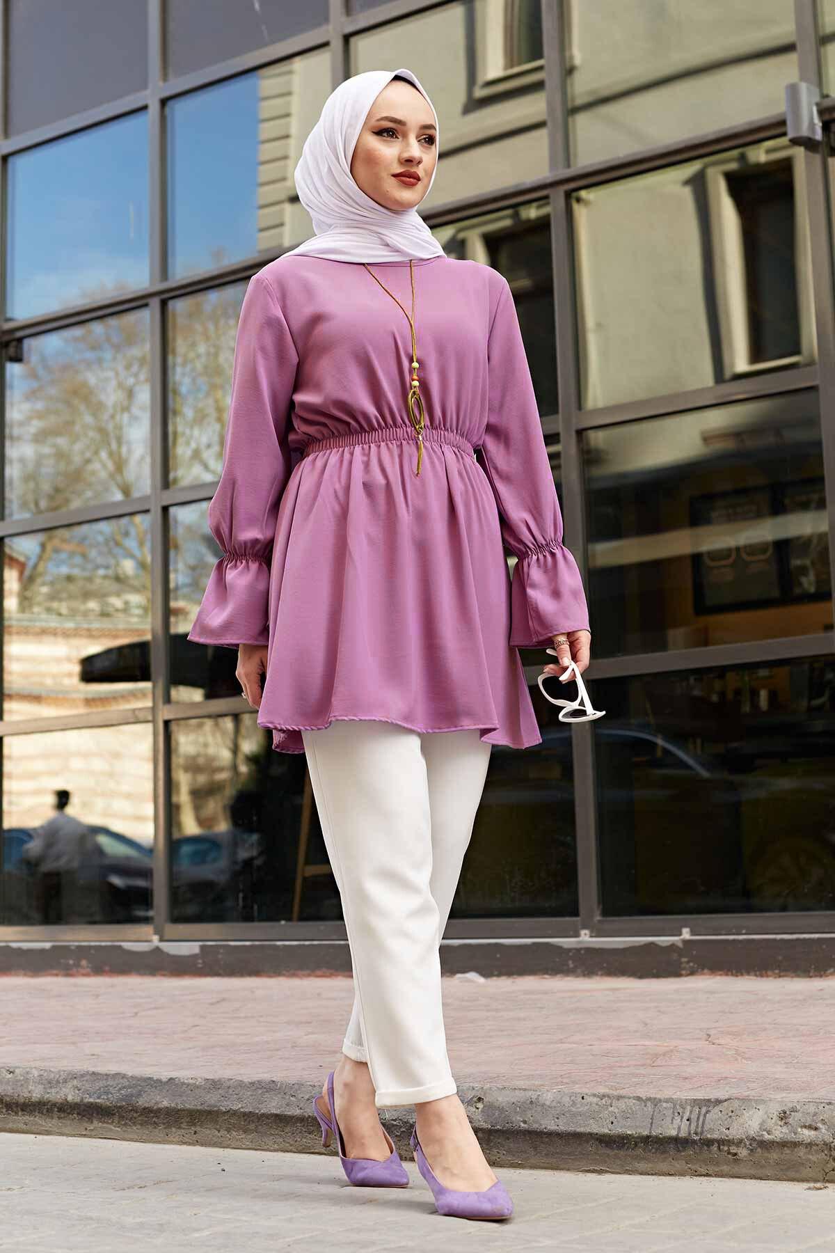 المرأة مسلم الحجاب دبي الإسلام الخصر تجمع الهوائية تونك الموسمية قالب كامل عادية شيك أنيقة عالية الجودة تونك
