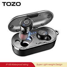 Bluetooth-наушники TOZO T10, IPX8, водостойкие, с глубокими басами
