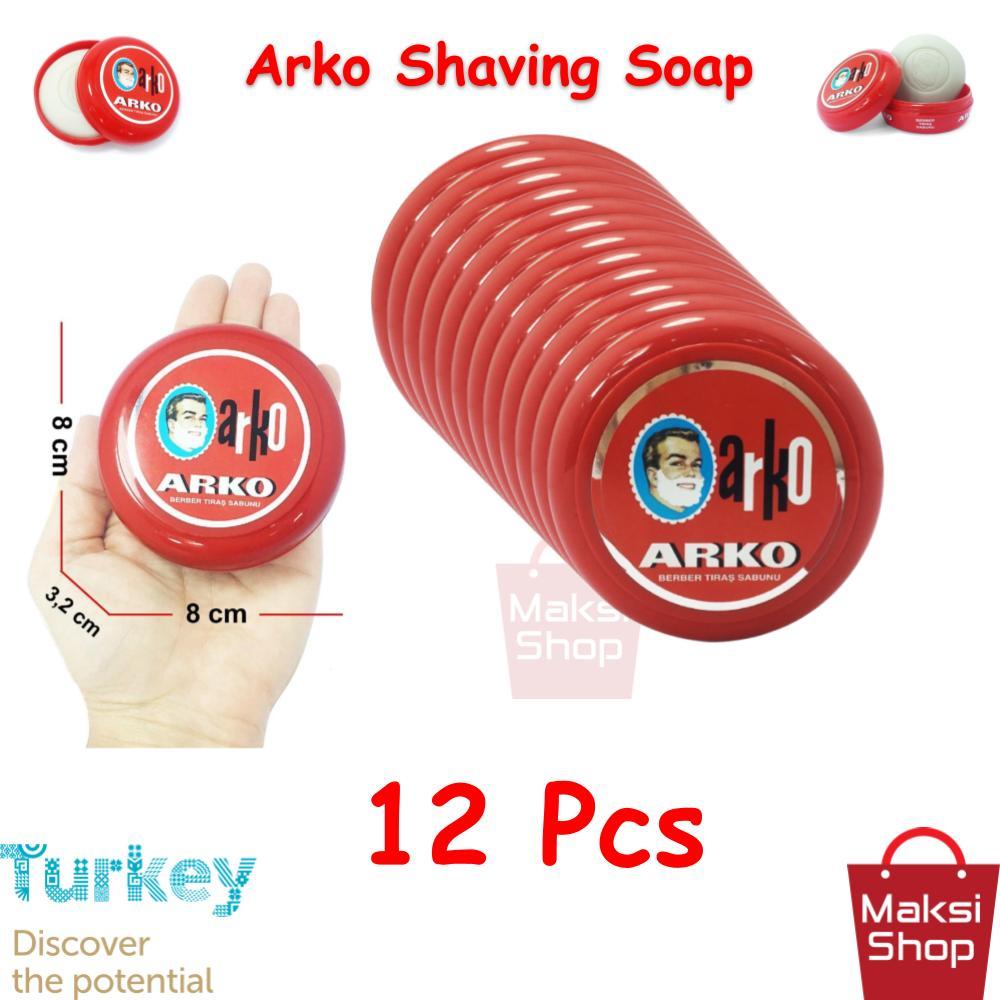 Arko Shaving Soap 90 g * 12 Pcs Bowl Razor Shaving Soap Abundant Foam Cleaning Easy Cleaning Easy Rinsing Face does Not irritate