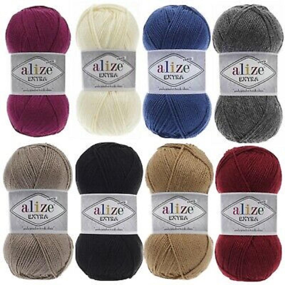 Alize-hilo Extra de 100 gr, hilo de suéter, 90% acrílico-10%, botines Lana,...