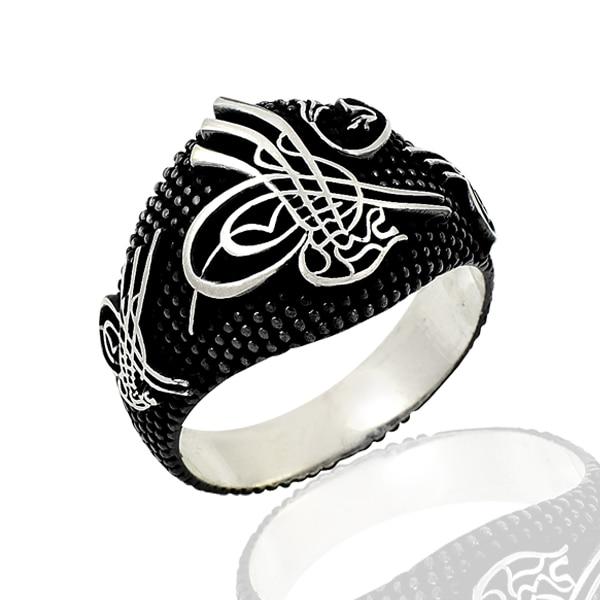 Anillos de plata 925 estilo otomano tradicional para hombres