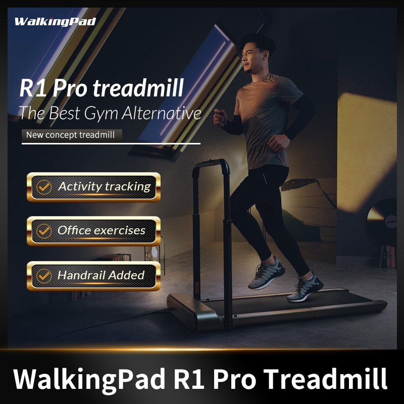 WalkingPad беговая дорожка R1 Pro складной Хранение в вертикальном положении 10км/ч Скорость Run Walk 2in1 Fit с поручнем дома кардио тренировки Офис