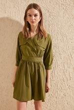Trendyol colarinho detalhe vestido twoss20el0515